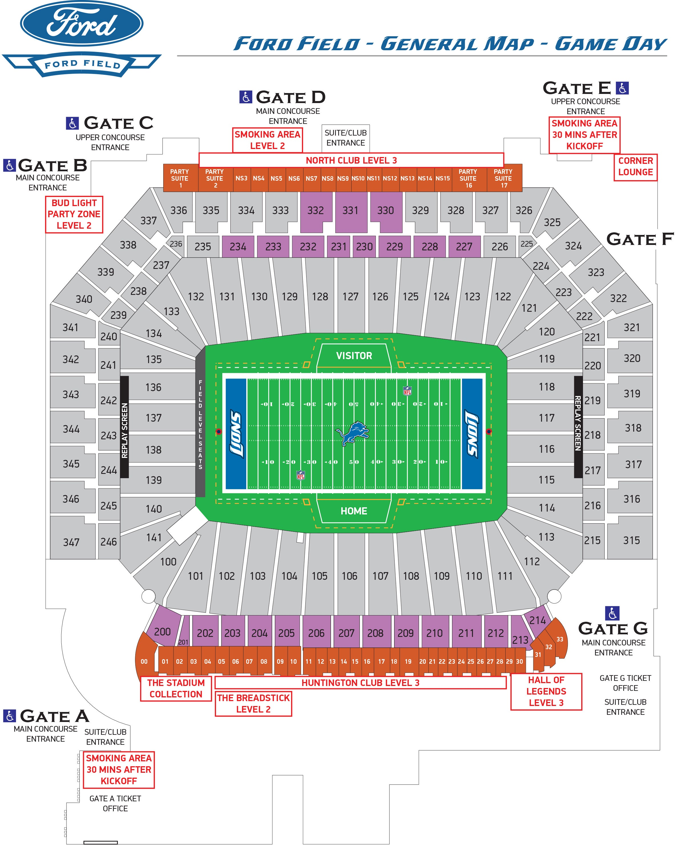 ford field seating chart. Cars Review. Best American Auto & Cars Review