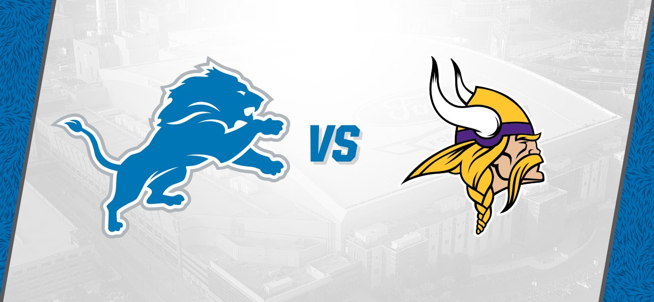 Detroit Lions Vs Minnesota Vikings Ford Field