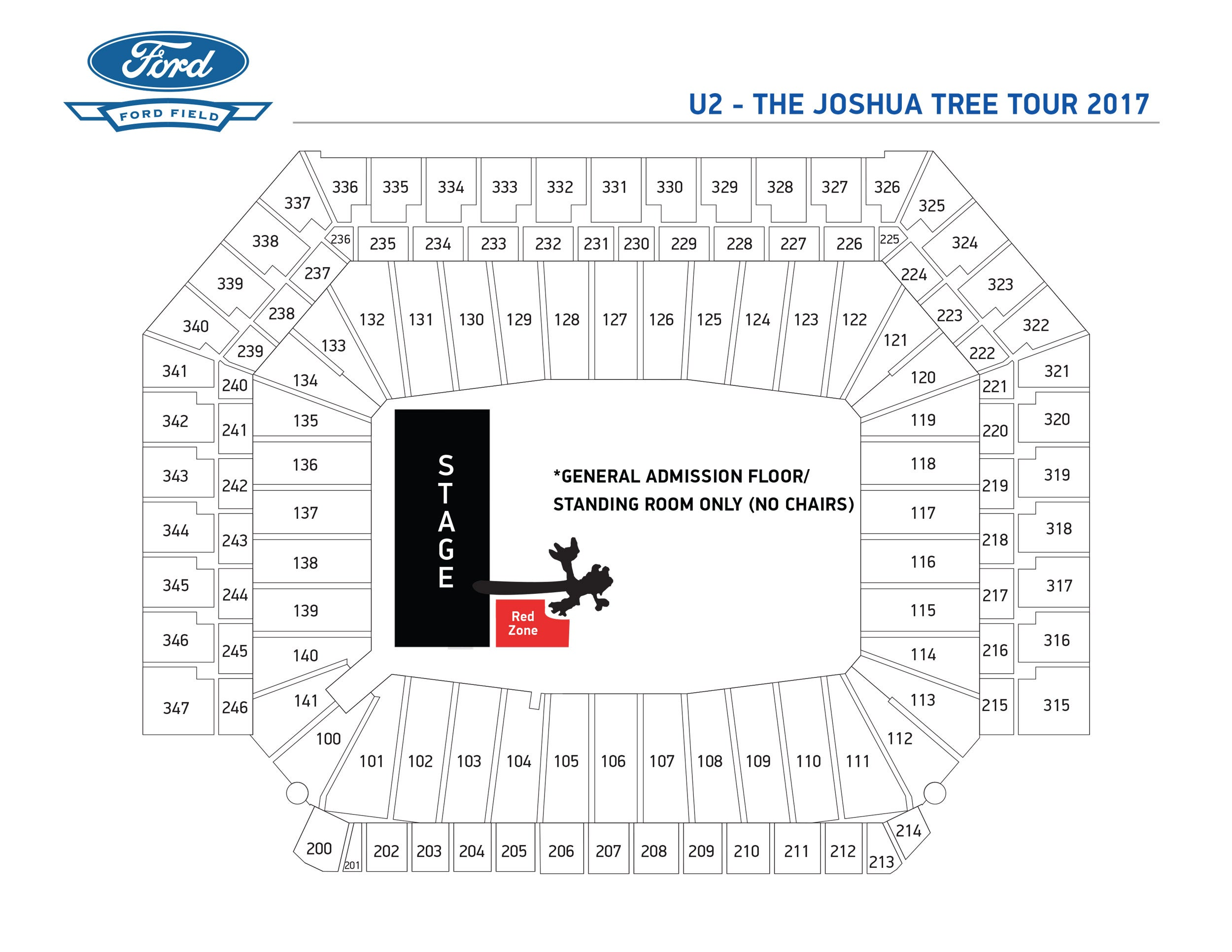 Ticket Prices For Detroit Ford Field Zootopia Munity. U2seatingchart76aa3a2b96. Ford. How Many Seats Per Row Ford Field Seating Diagram At Scoala.co