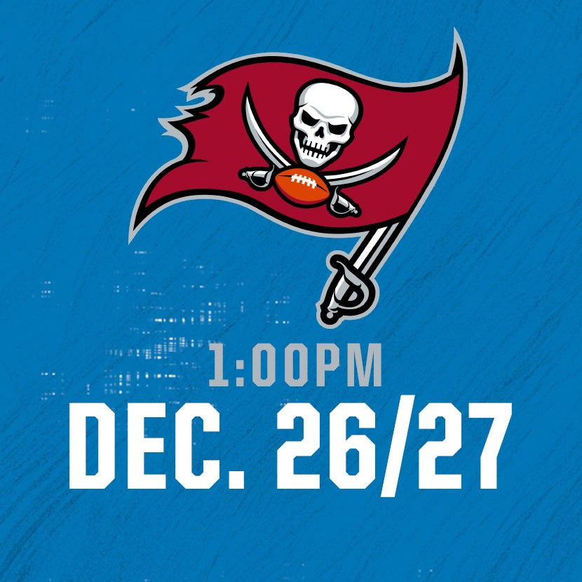 More Info for Tampa Bay Buccaneers @ Detroit Lions