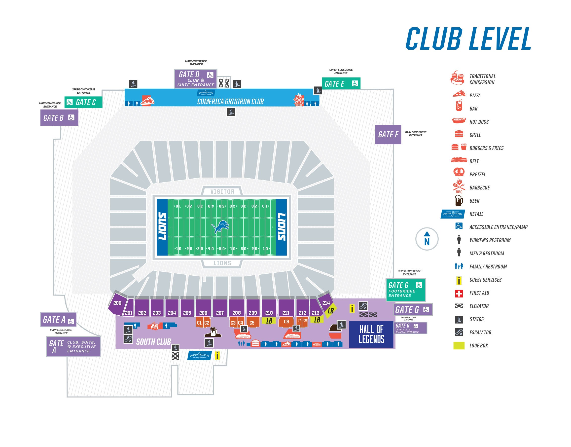 Ford Field Map Seating Maps | Ford Field