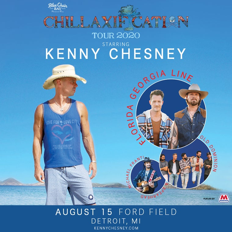 More Info for Kenny Chesney: Chillaxification Tour 2020