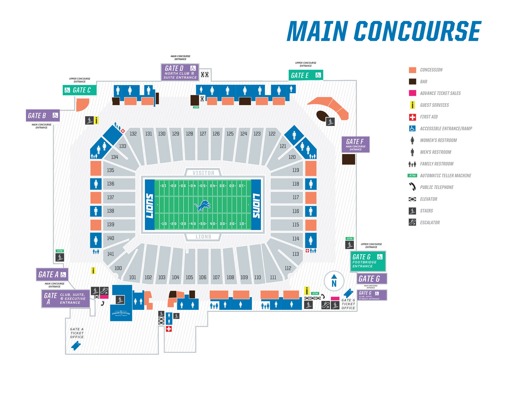 Seating Maps Ford Field