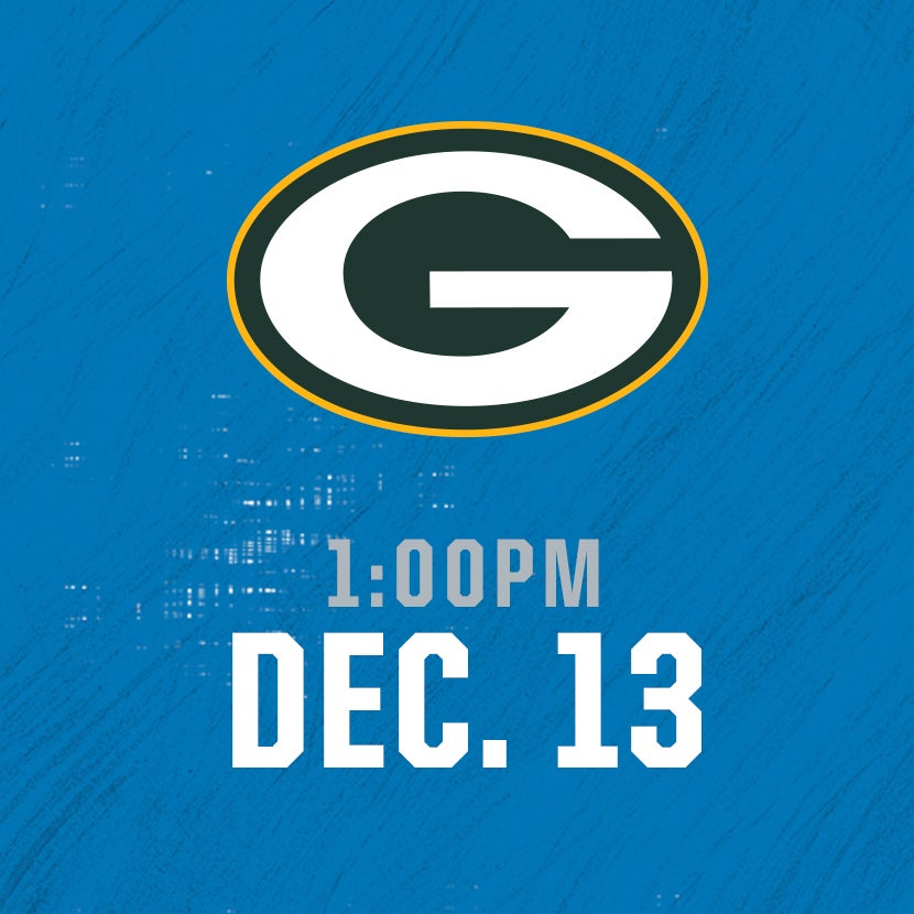 More Info for Green Bay Packers @ Detroit Lions