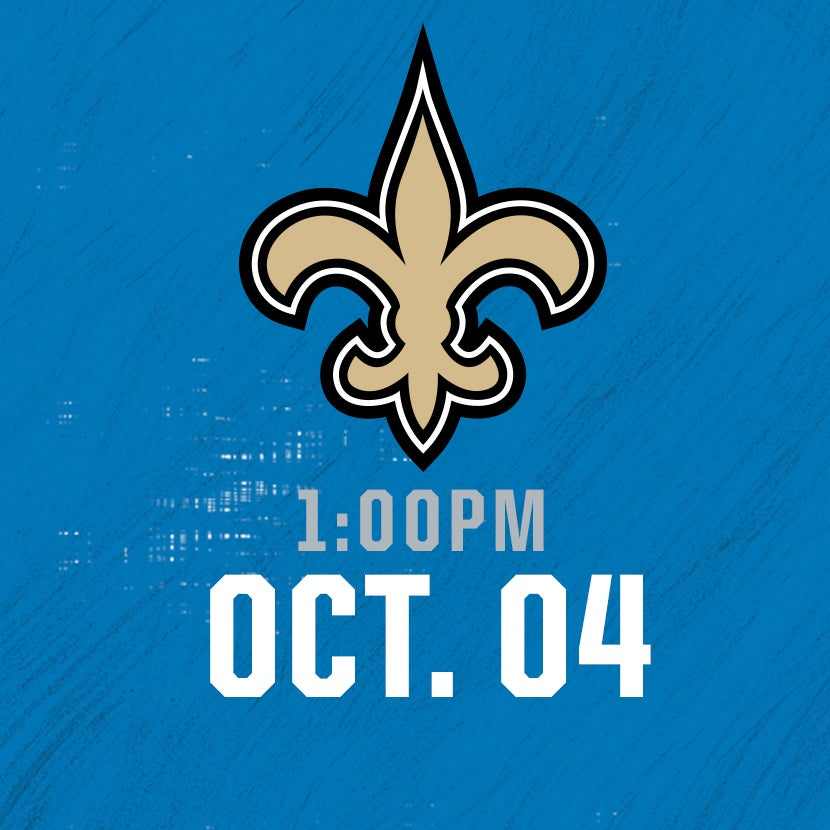 More Info for New Orleans Saints @ Detroit Lions