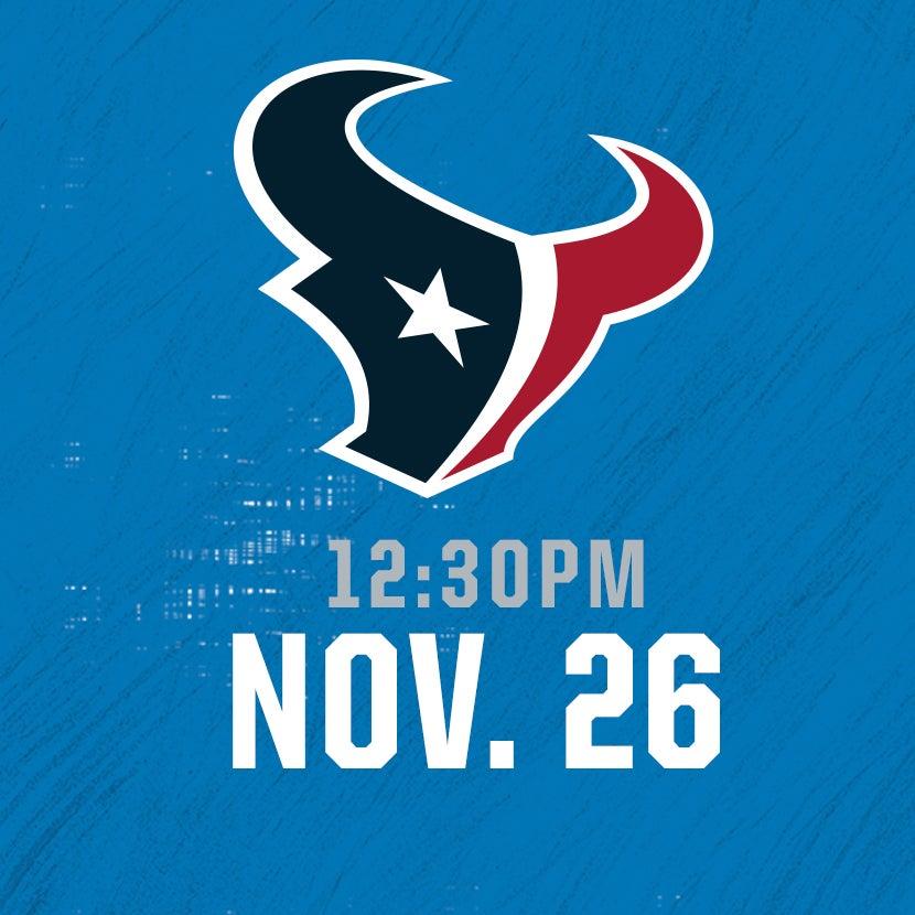 More Info for Houston Texans @ Detroit Lions