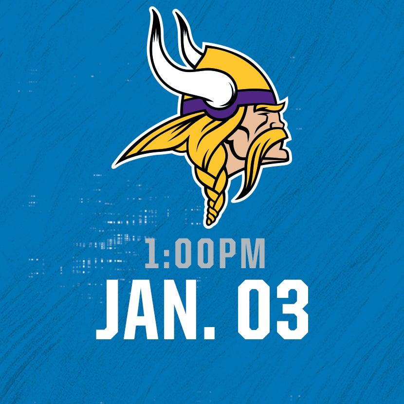 More Info for Minnesota Vikings @ Detroit Lions